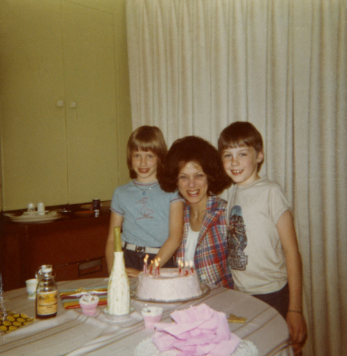 1978 Moms 40th Birthday with Laura and Scott