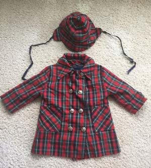 Plaid Coat and Hat